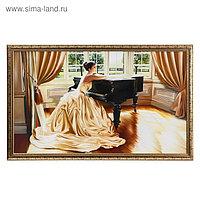 """Картина """"Девушка и рояль"""" 66х106см рамка микс"""