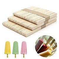 Деревянные палочки для мороженного, 50 шт, 72*8мм Silikomart