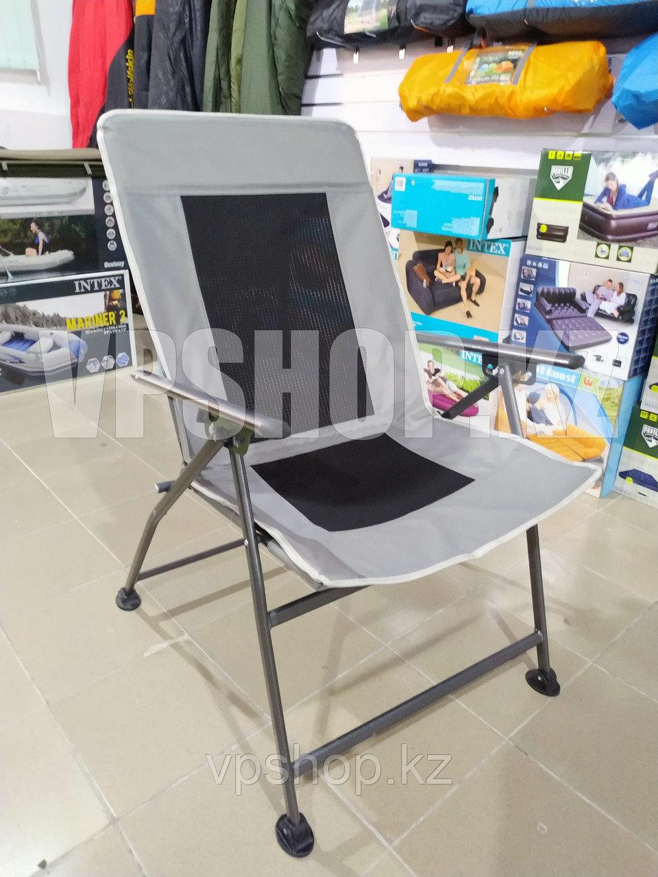 Усиленный складной стул туристический с регулировкой спины, для рыбалки для похода для охоты, доставка