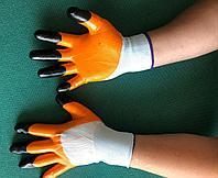 Перчатки нейлоновые с ПВХ покрытием, фото 1