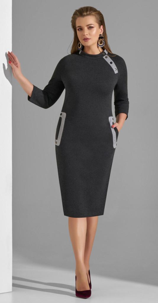 Платье Lissana-3802, графит, 48