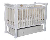 Детская кроватка Антел Julia 1 Белая универсальный маятник, фото 1
