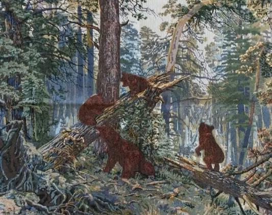 Утро в сосновом лесу 067 Картина 50х70 см 1714