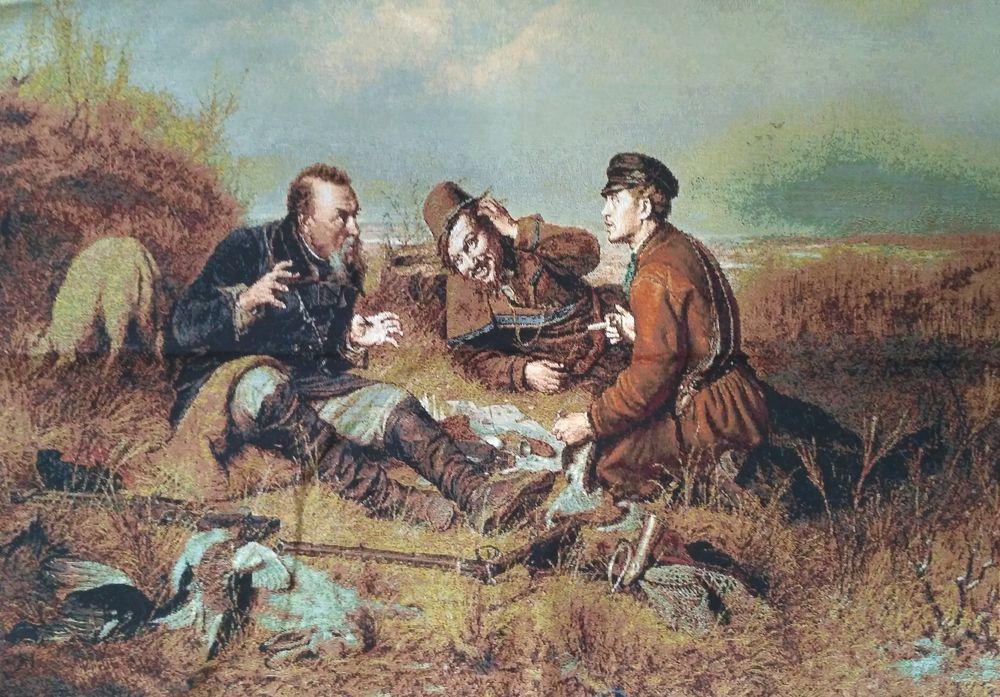 11149B1 Багет №1 50х70 Охотники на привале