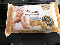 Мыло Туалетное Банное, 190 грамм содержит глицерин