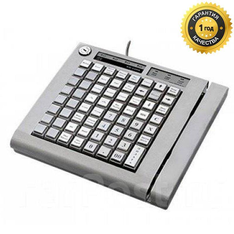 KB-64RK, программируемая клавиатура, 64 клавиши, с ридером магнитных карт, бежевая(1&2-я дор.) (пр-во ШТРИХ-М)