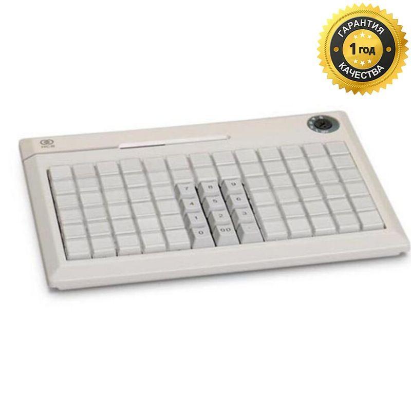 POS-клавиатура NCR 5932-7XXX программируемая бежевая PS/2 на 78 клавиш с ридером (3 дорожки)