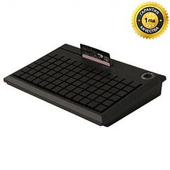 POS-клавиатура NCR 5932-7XXX программируемая чёрная PS/2 на 78 клавиш с ридером (3 дорожки)