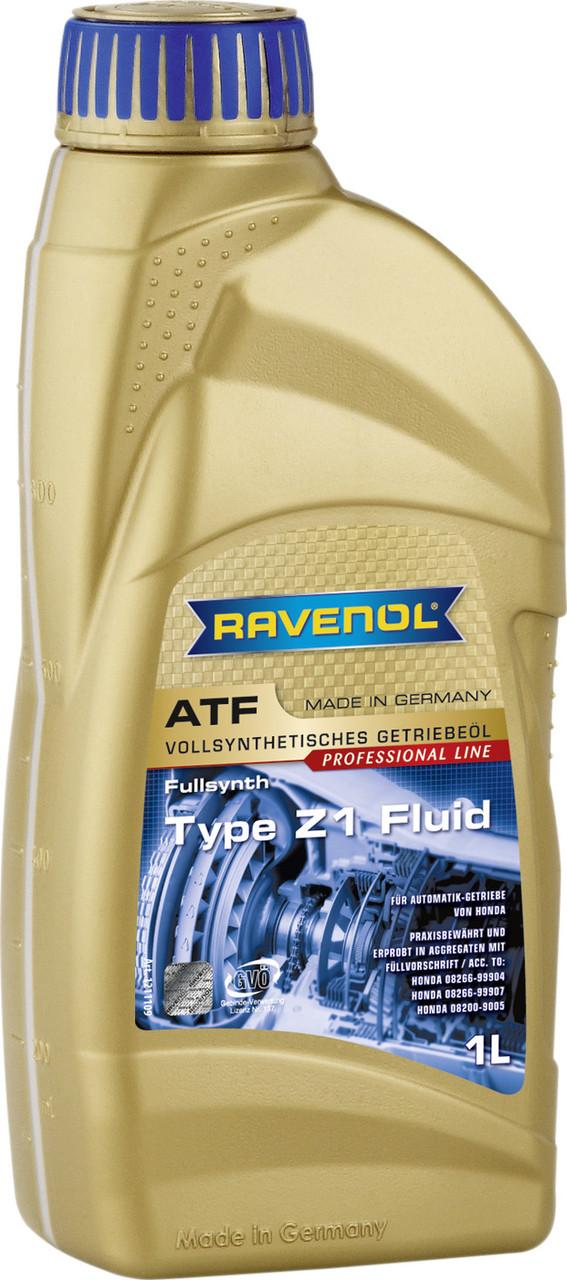 Трансмиссионная жидкость Ravenol ATF Type Z1 Fluid для всех 4- и 5-ти ступенчатых АКПП автомобилей Honda 1L