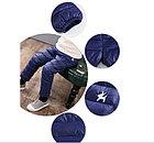 Теплые штаны, цвет синий, фото 2