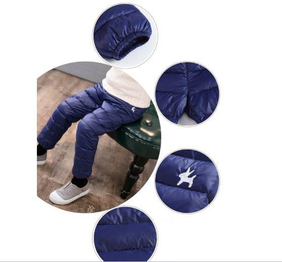 Теплые штаны, цвет синий - фото 2
