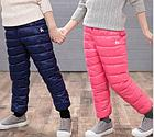 Теплые штаны, цвет синий, фото 4