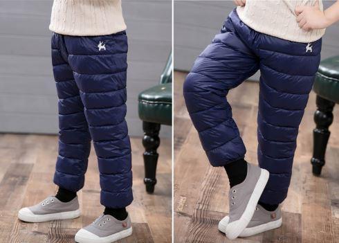 Теплые штаны, цвет синий - фото 5