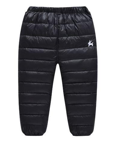 Теплые штаны, цвет черный, 2-3 года - фото 1
