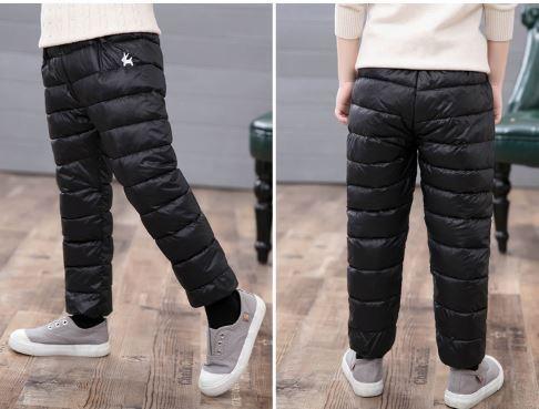 Теплые штаны, цвет черный, 2-3 года - фото 5