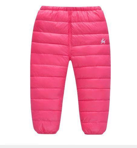 Теплые штаны, цвет розовый 2-3 года