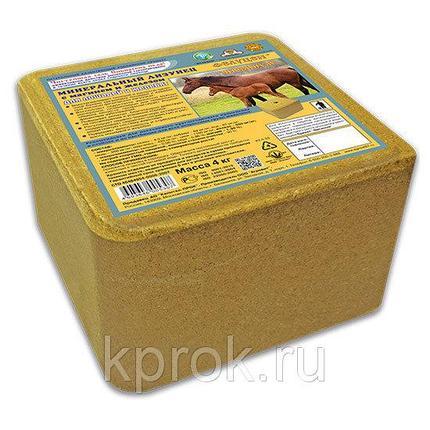Фелуцен минеральный лизунец с магнием и железом для лошадей и жеребят Премиум 4кг, 1 шт, фото 2
