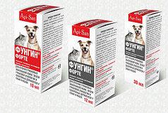 Фунгин Форте 12мл для лечения грибковых заболеваний кожи, экзем грибковой этиологии и себореи у собак и кошек