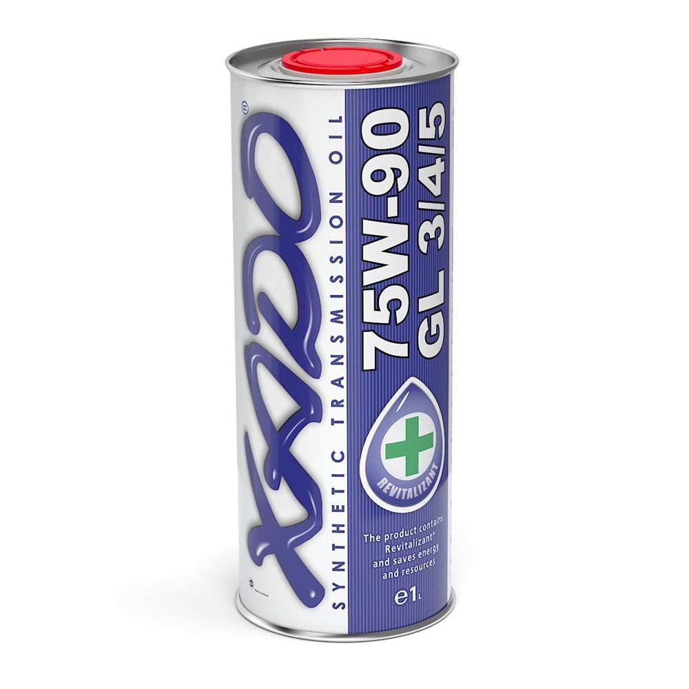 Трансмиссионное масло XADO Atomic Oil 75W-90 GL 3/4/5 для МКПП легковых и грузовых авто 1L