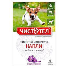 Капли Чистотел Максимум от блох и клещей для собак