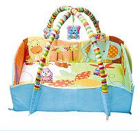 Развивающий коврик детский с бортиками, для младенцев с игрушками 80*60*60 см JS Baby Carpet, фото 1