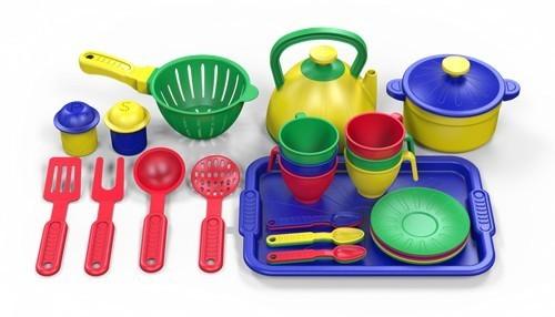 """Игровой набор посуды """"Маленький поварёнок"""", 28 предметов"""