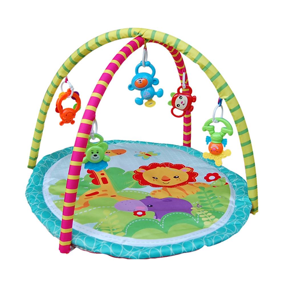 Развивающий коврик детский, для младенцев с игрушками 76*64*53 см JS Baby Carpet