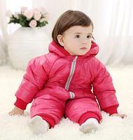 Комбинезон осенне-зимний, цвет розовый