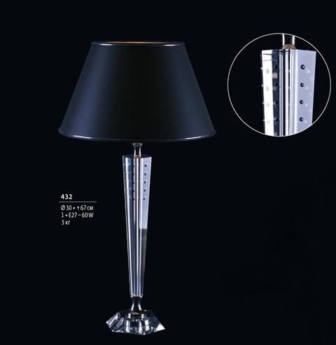 Лампа Настольная Preciosa, Чехия 51 434 88 KUFSTEIN BLACK