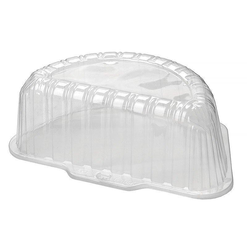 Крышка для торта половина 1,4кг внешн. 270х162х104мм, внутр. 230х115х92мм, прозрачная, (58336) ОПС, 270 шт