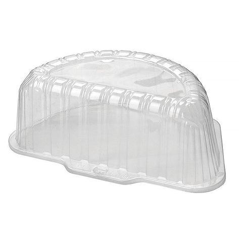 Крышка для торта половина 1,4кг внешн. 270х162х104мм, внутр. 230х115х92мм, прозрачная, (58336) ОПС, 270 шт, фото 2