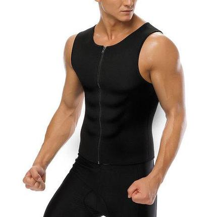 Майка мужская на молнии для похудения и занятий спортом  Hot Shapers (XL), фото 2