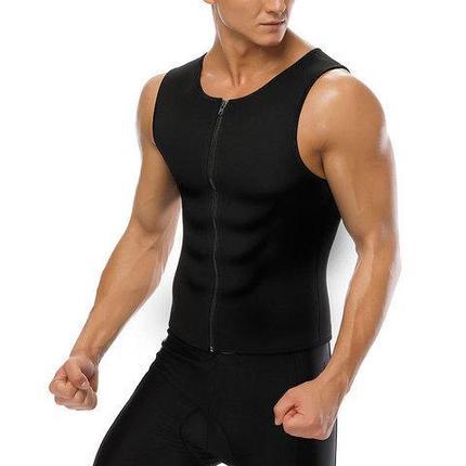 Майка мужская на молнии для похудения и занятий спортом  Hot Shapers (XXXL), фото 2