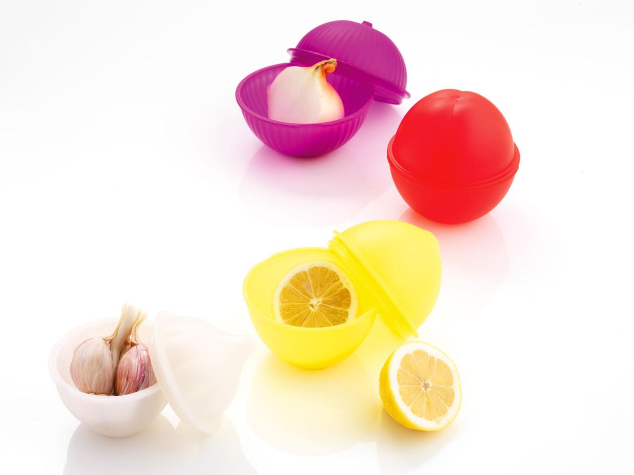 Емкости Mastrad для хранения (чеснок, лимон, лук, помидоры...) -набор из 4 шт, цв.в асс F91354