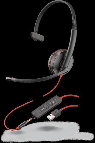 Plantronics Blackwire C3215 USB-A Jack 3,5 моно гарнитура
