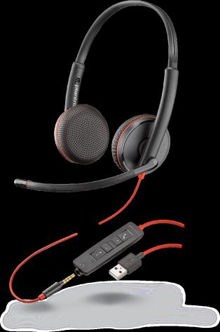 Plantronics Blackwire C3225 USB-A Jack 3,5 стерео гарнитура
