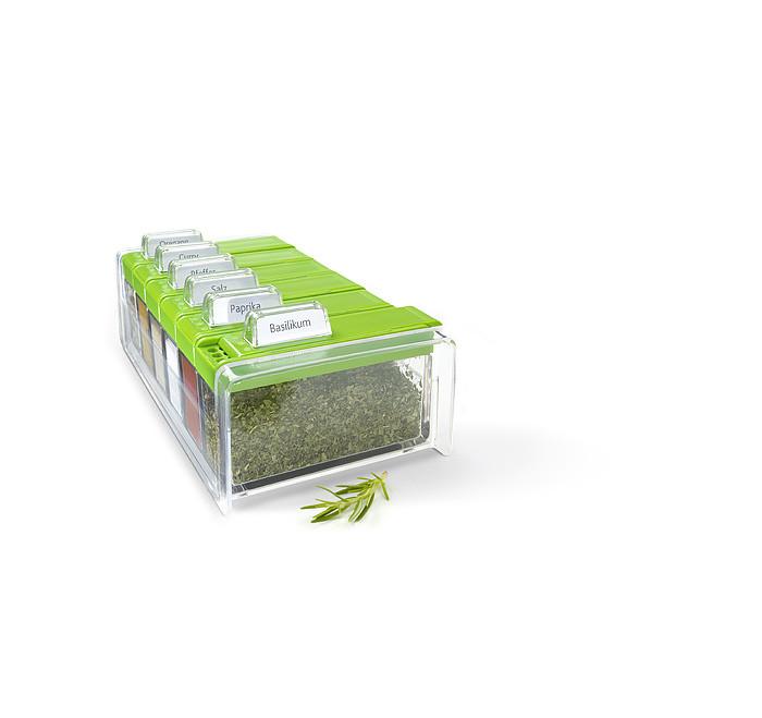 Набор для хранения специи, зеленая 6 шт. SPICE BOX EMSA 508458