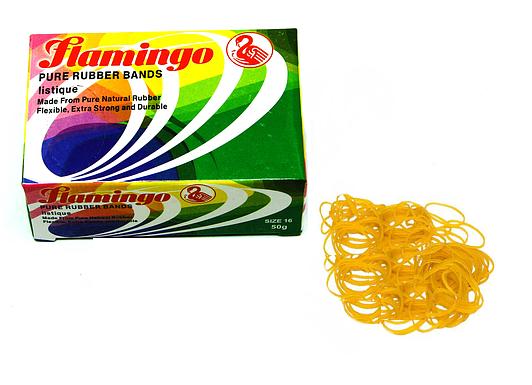 Резинки для денег Flamingo, 100 гр, желтые