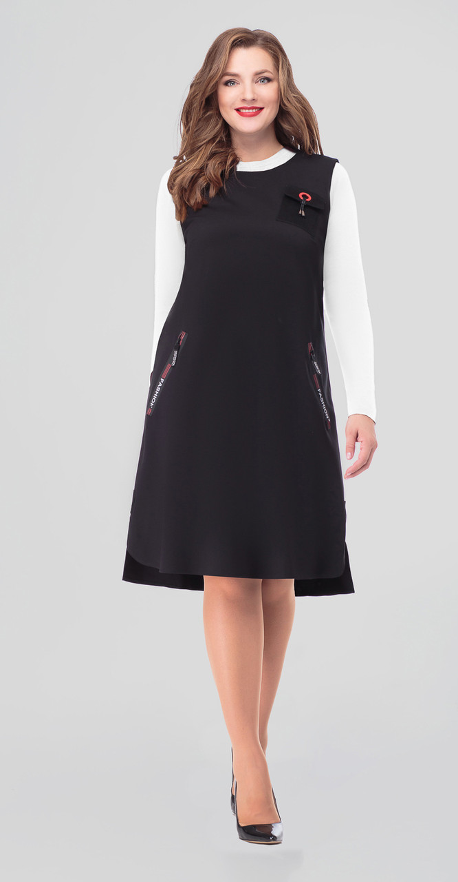 Платье Дали-4319, черный, 48