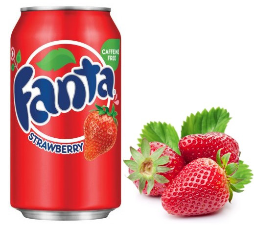 Fanta Strawberry Клубника 355ml США (12шт-упак)