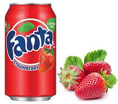 Fanta Strawberry Клубника 355ml США (12шт-упак)