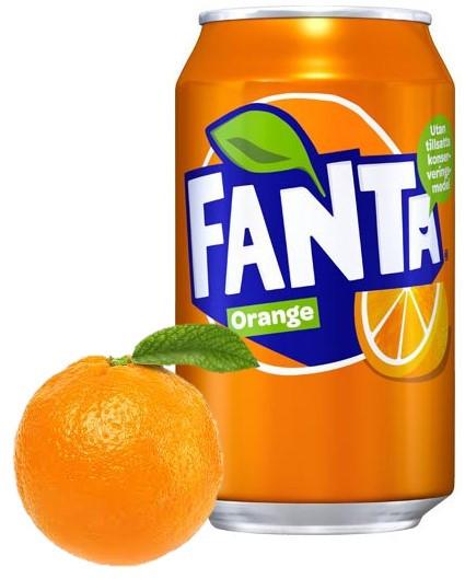 Fanta Orange 330ml Дания (24шт-упак)