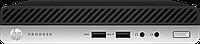 Мини ПКHP Prodesk 400 G4 DM / 400G4DM / i3-8100T / 8GB / 256GB M.2 PCIe NVMe / DOS / 1yw / USB Slim kbd / mou