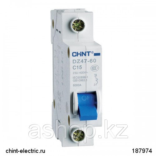 Автоматический выключатель реечный Chint DZ47-60 1P 20А, 230/400 В, Кол-во полюсов: 1, Предел отключения: 4,5