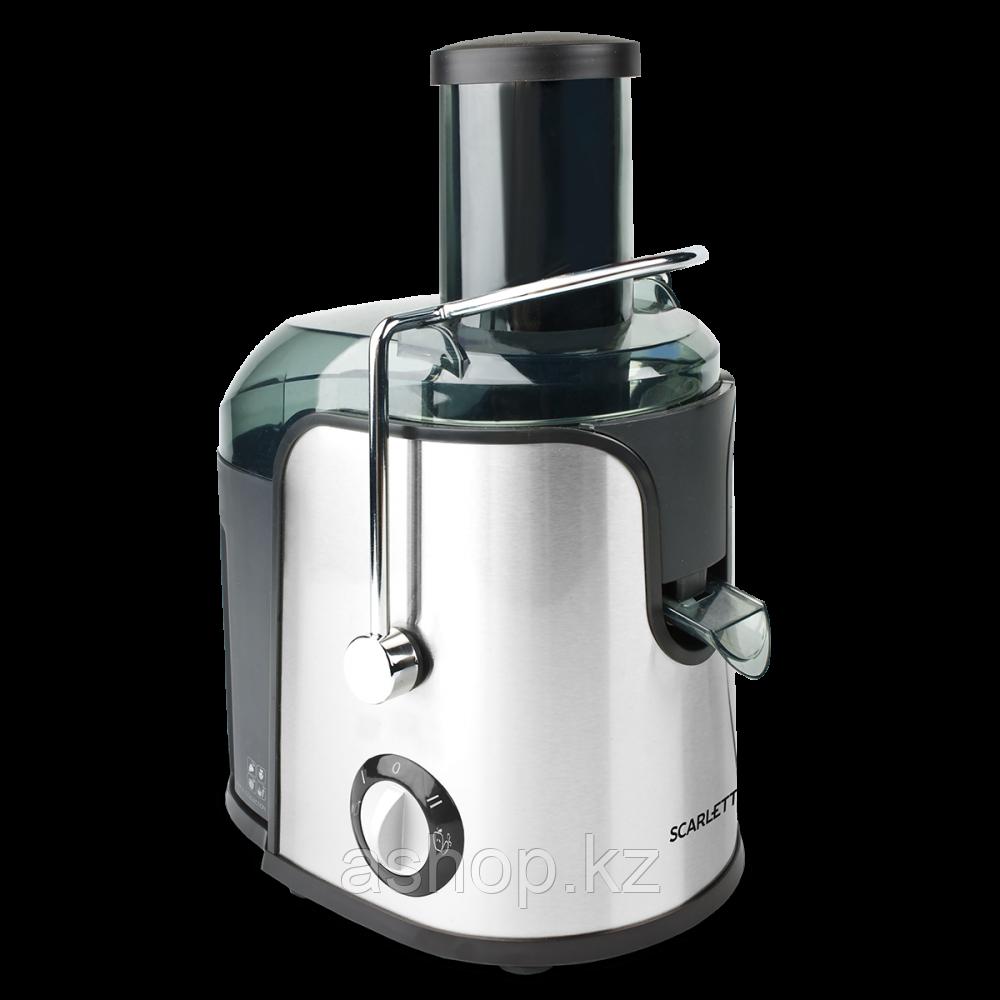 Соковыжималка центробежная для овощей и фруктов Scarlett SC-JE50S38, 1000 Вт, Объем сока: 0,75 л, Диаметр отве