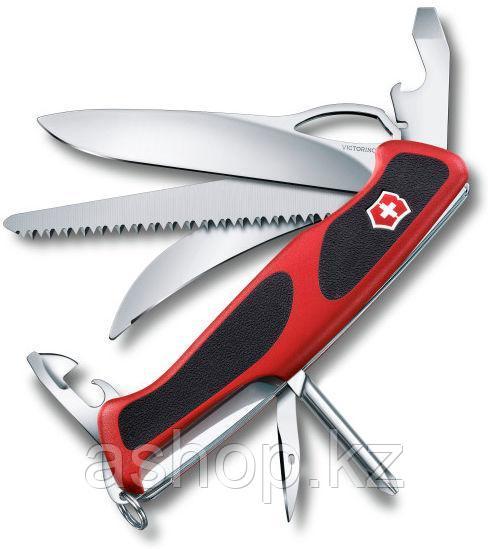 Нож складной карманный Victorinox Rangergrip 58, Функционал: Туризм, Кол-во функций: 13 в 1, Цвет: Красно-чёрн