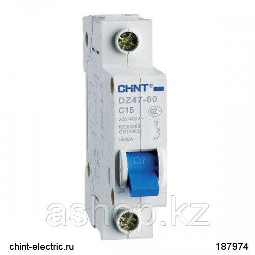 Автоматический выключатель реечный Chint DZ47-60 1P 32А, 230/400 В, Кол-во полюсов: 1, Предел отключения: 4,5