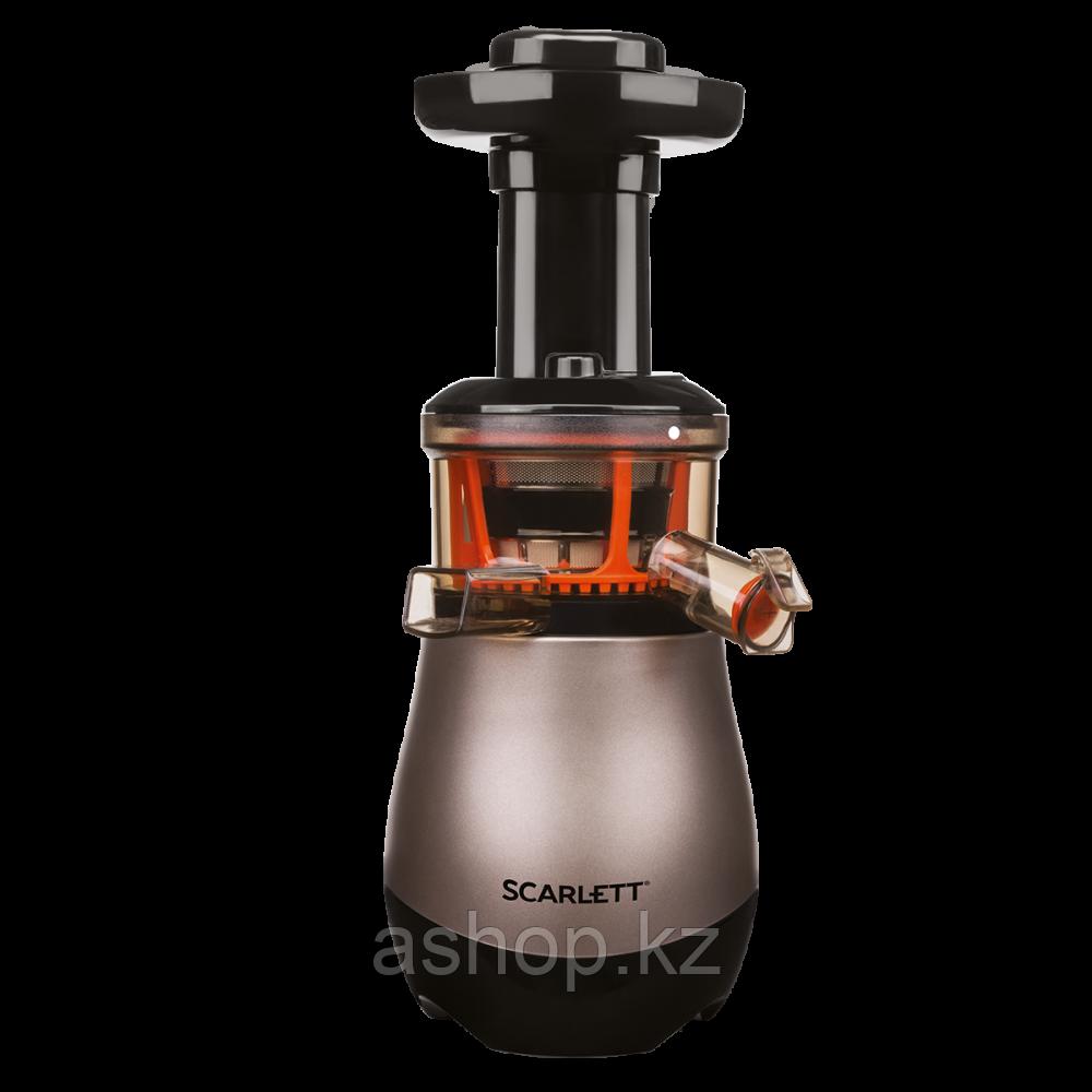 Соковыжималка шнековая для овощей и фруктов Scarlett SC-JE50S43, 220 Вт, Объем сока: 1 л, Диаметр отверствия: