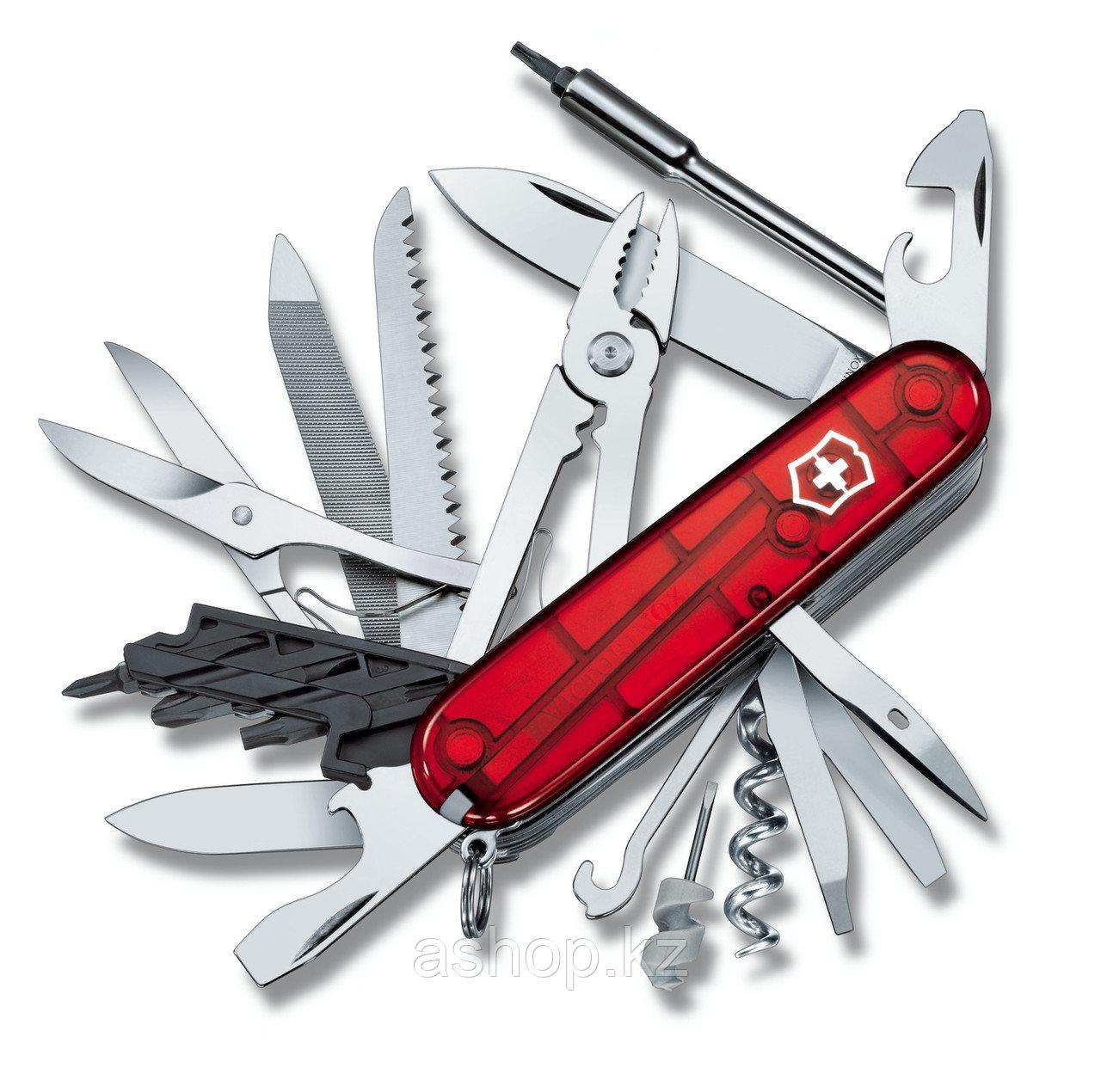 Нож складной универсальный Victorinox CyberTool 41, Кол-во функций: 41 в 1, Цвет: Красный (прозрачный), (1.777