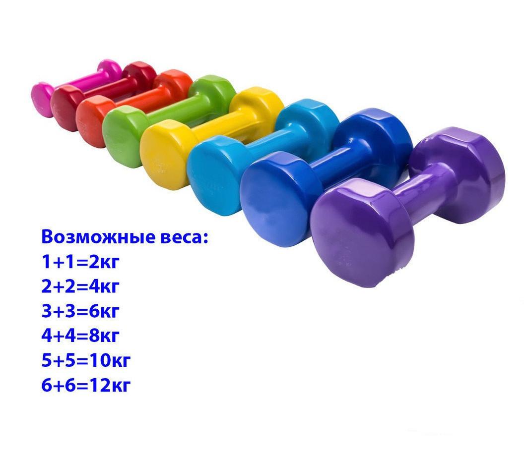 Фитнес гантели по 6 кг